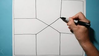 Cool Line Illusion Pattern in 3D / Daily Art Therapy / Day 060