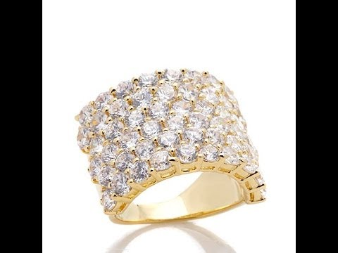 Adrienne's Diamonite Wide Pave' Cocktail Ring