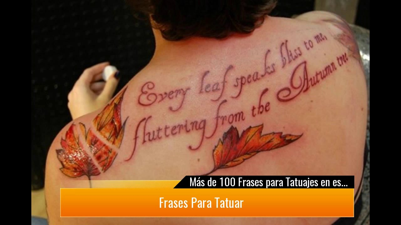 De 100 Frases Para Tatuajes En Español E Inglés Que Seguro Vas A