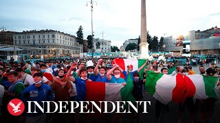 Live: Fans gather in Rome ahead of Euro 2020 opening
