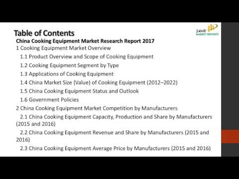 China Cooking Equipment Market Research Report 2017
