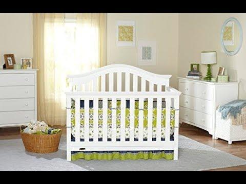 Graco Bryson 4-in-1 Convertible Crib, White
