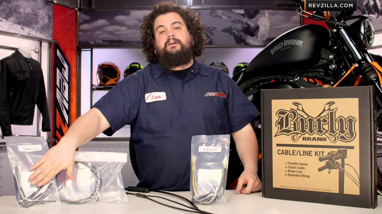 Burly Handlebar Cable Installation Kit For Harley Review At Revzilla 92 Softail Wiring Harness Revzillacom
