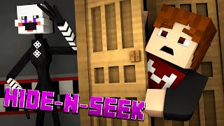 Minecraft FNAF HIDE N SEEK w/ THE PUPPET MASTER! #8 (Five Nights at Freddy's Minigame)
