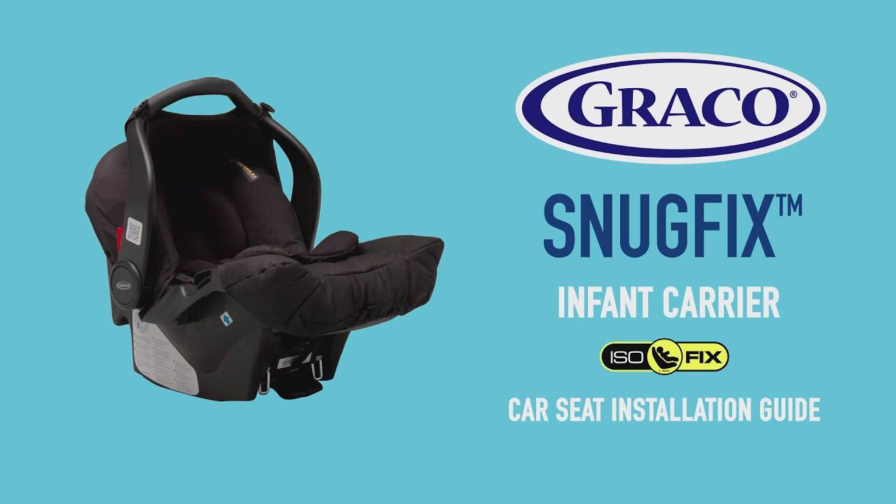 Black Graco Snugfix Car Seat Isofix Base