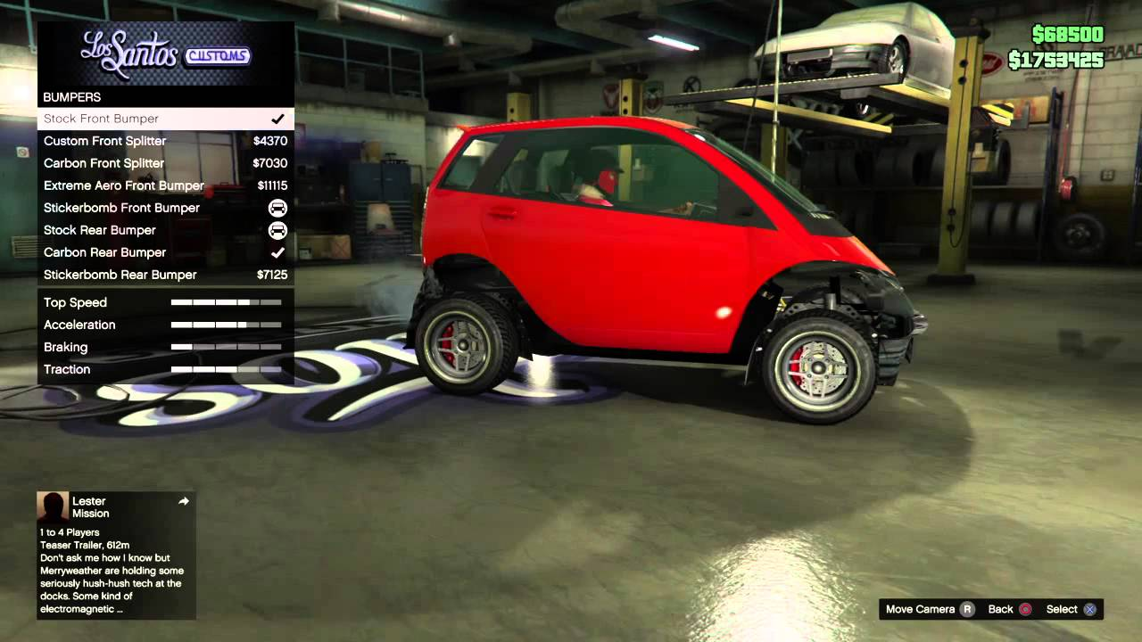 Gta Tv Show >> GTA V Online - How to Remove/Add the Roof, Bumpers, Fenders, Rear Panel & Skirts from/to the ...