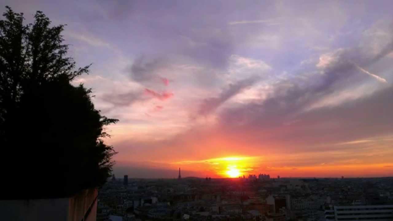 Sunset paris coucher de soleil sur paris en time lapse youtube - Coucher de soleil sur paris ...