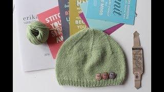 Вязание спицами:детская шапочка.тестирование пряжи Erika Knight : british blue wool.