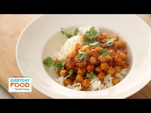 Curried chickpeas for dinner everyday food with sarah carey youtube curried chickpeas for dinner everyday food with sarah carey forumfinder Gallery