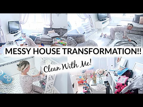 MESSY HOUSE TRANSFORMATION // EXTREME CLEANING MOTIVATION // CLEAN WITH ME // ALL DAY CLEANING