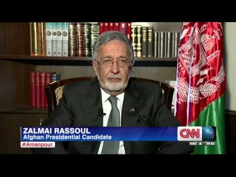 Afghanistan should sign U S  security deal, presidential candidate and former foreign minister Zalma