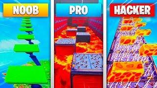NABBO vs PRO vs HACKER DEATHRUN CHALLENGE!! FORTNITE