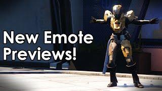 Destiny Taken King: New Destiny Emote Previews! The Eververse Trading Company