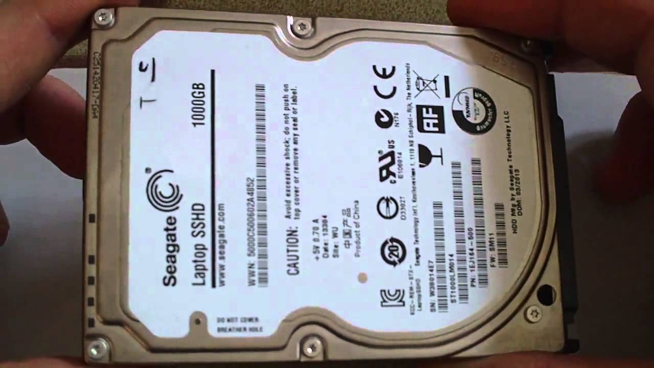 seagate sshd 2 5 1to mes impressions youtube. Black Bedroom Furniture Sets. Home Design Ideas