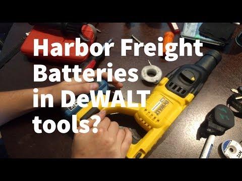 New Harbor Freight batteries work in DeWALT tools!