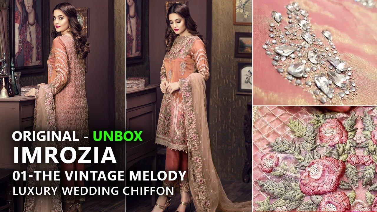 Imrozia Chiffon Collection 2018 - Unbox 01 The Vintage Melody - Pakistani  Branded Dresses