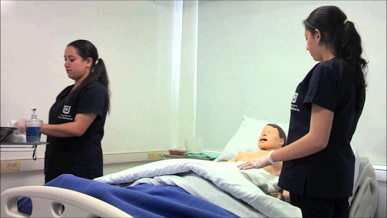 modulo 1 parte a baÑo general en cama - youtube - Bano General Del Paciente En Cama