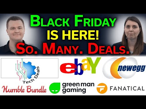 Black Friday — Tech Deals — PC Desktops / Laptops / CPUs / GPUs / RAM / Storage / PC Games / & More!