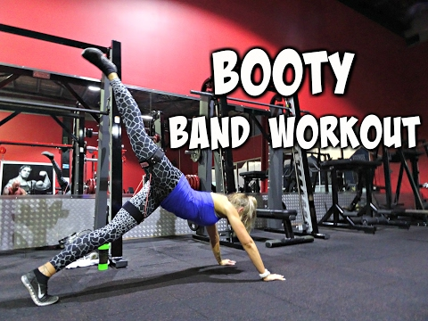 booty band workout top 5 resistance band moves doovi