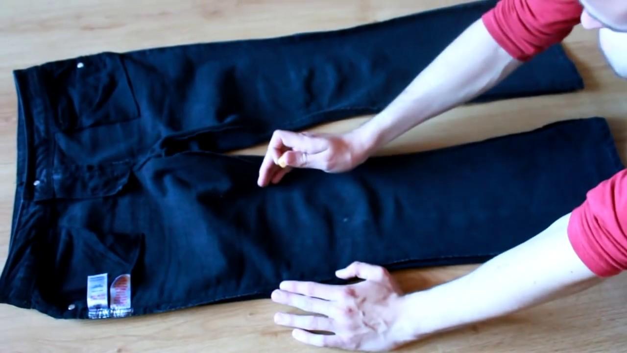 как клешавые штаны сделать узкими - YouTube