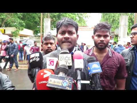 Jaffna University students protest for Tamil political prisoners