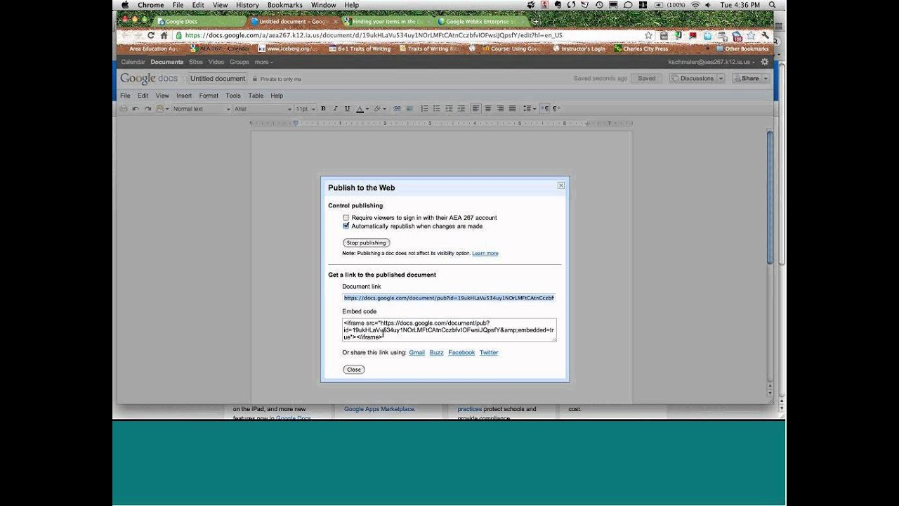 Doing more with Google Docs webinar