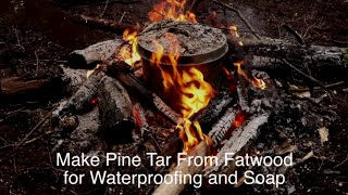 How To Make Pine Tar and Charcoal From Fatwood