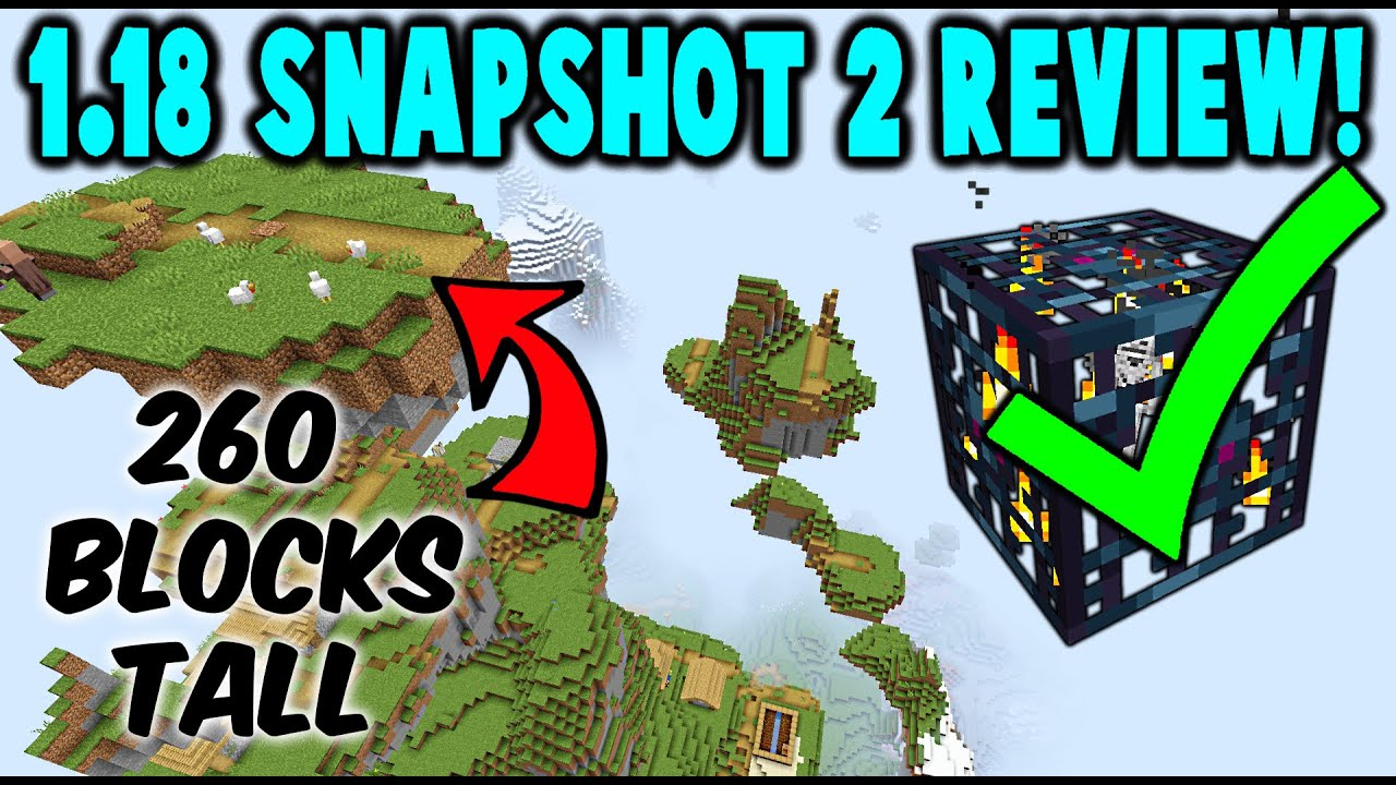 2nd 1.18 Minecraft Update! TALLER Mountains, BUFF Spawners!