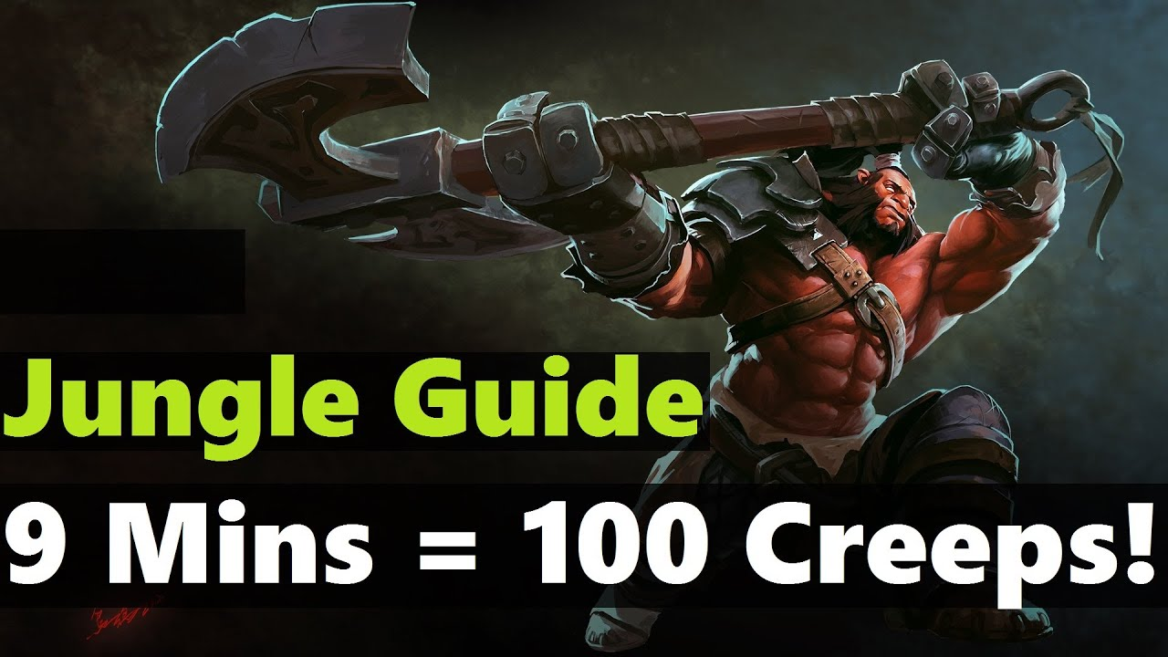 9 Mins 100 Creeps Axe Jungle Guide By Miracle Dota 2