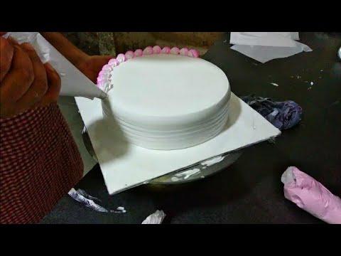 Top Amazing Vanilla  Flavour Cake | Flowers Decorations Fancy Cake | Sunil Cake Master