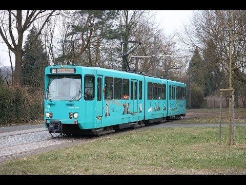 Mitfahrt Im Vgf Düwag Pt Wagen 728 Durch Frankfurt Am Main Von