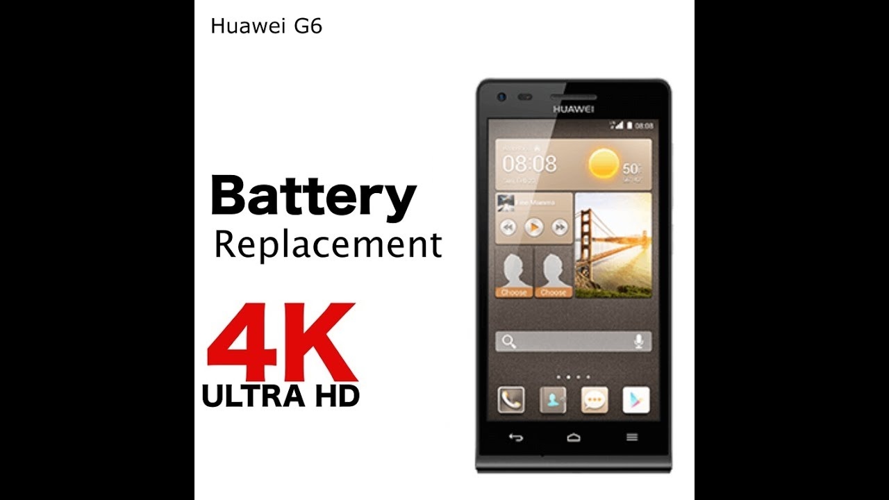 Huawei G6 Battery replacement in 3 minutes