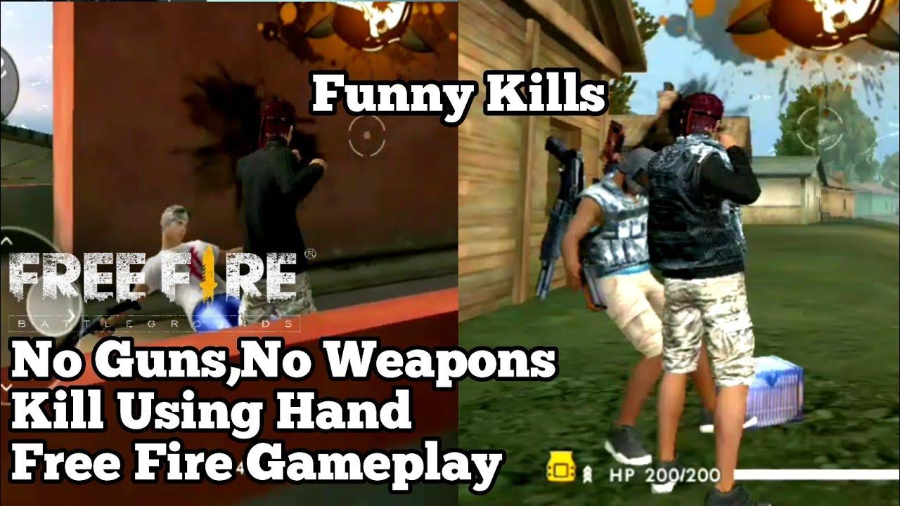 Kills Using Hand Free Fire Gameplay 35 Youtube