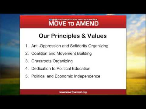 Take Action Webinar: Introduction to Move to Amend (October 2015)