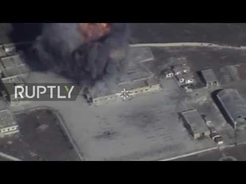 Syria: Drone shows Russian missile strikes on IS as new offensive begins
