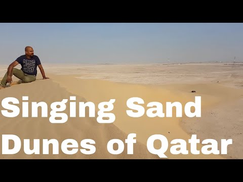 🌲Tourist Locations in Qatar - Singing Sand Dunes in 4K 🌲👌