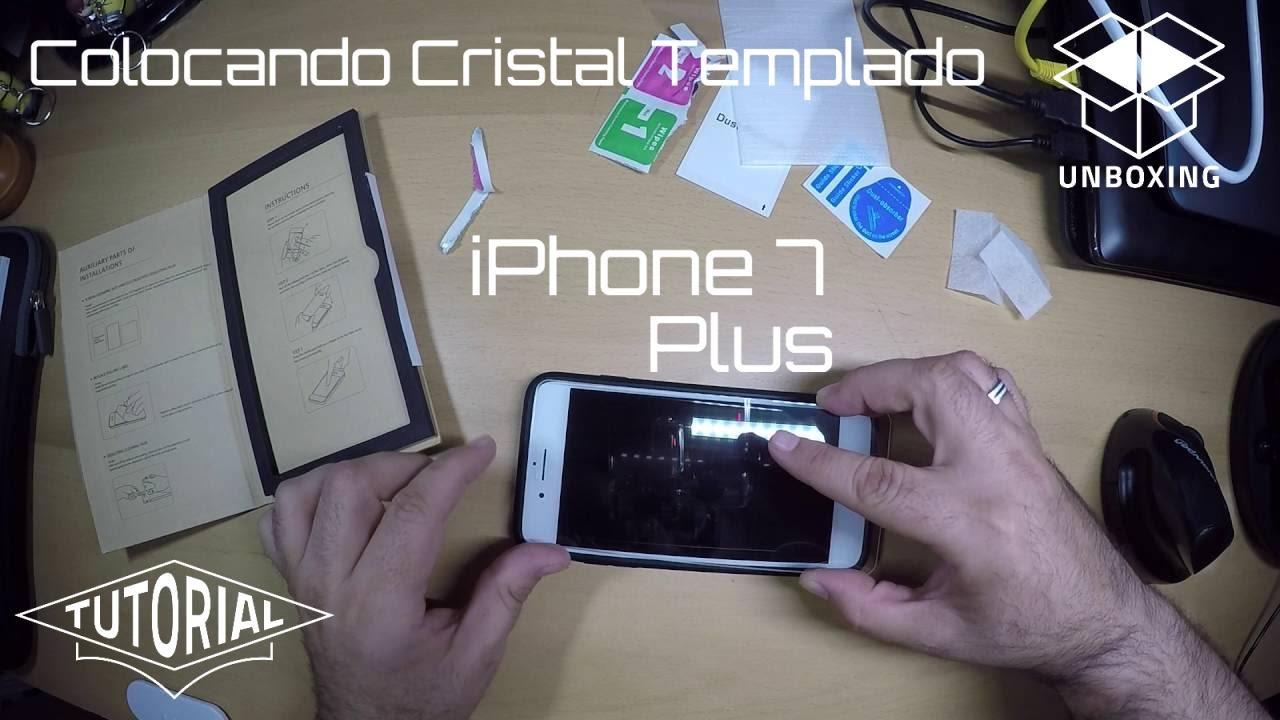 Colocacion cristal templado en iphone 7 plus youtube for Colocacion vinilo en cristal
