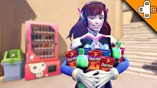 D.Va Finds TRUE LOVE! Overwatch Funny & Epic Moments 597