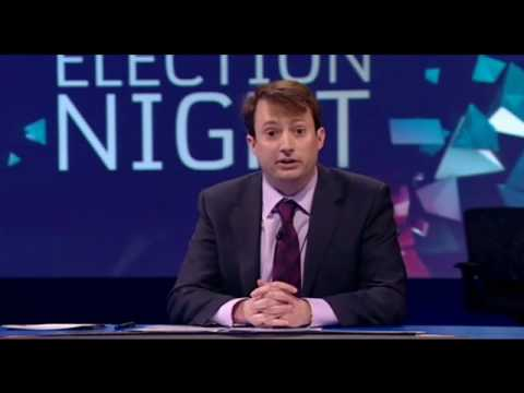 David Mitchell and french woman at Alternative Election Night Channel 4