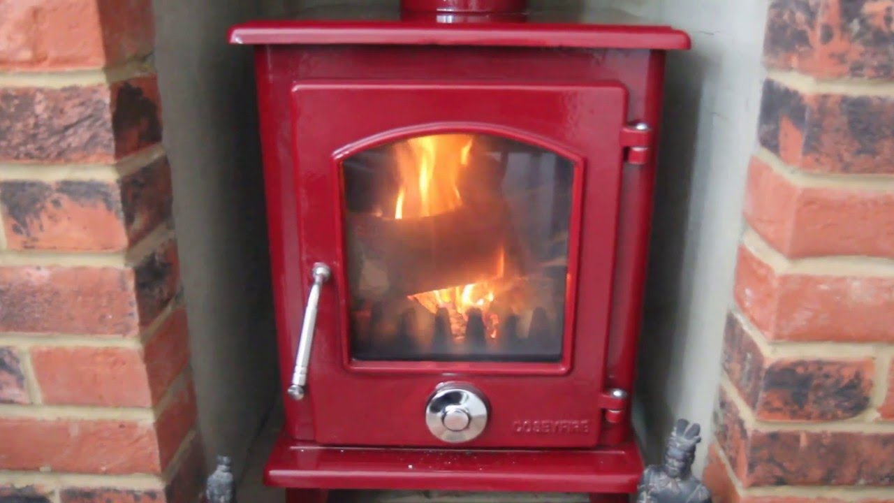 CoseyFire Red Enamel Stove - CoseyFire Red Enamel Stove - YouTube