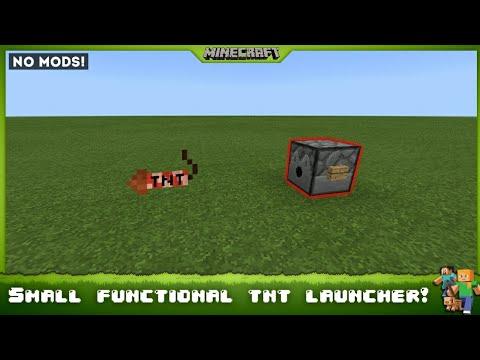 SMALLEST TNT LAUNCHER EVER! - MINECRAFT [BEDROCK EDITION]