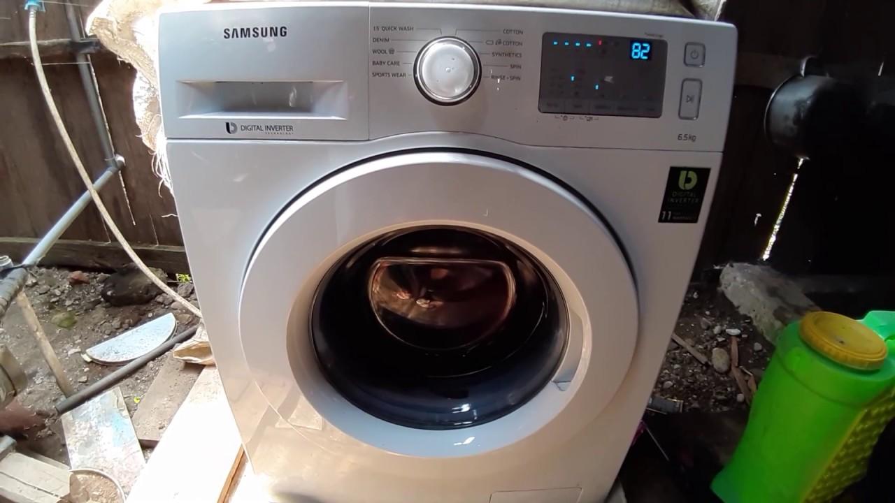 Cara Pemakaian Mesin Cuci Samsung Digital Inverter Youtube