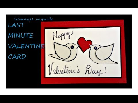 LAST MINUTE VALENTINE CARD Diy Valentine Birthday Card Paper Crafts Making