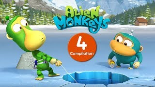 Funny Animated Cartoon - Alien Monkeys - Episodes 31-40 - Cartoons For Children