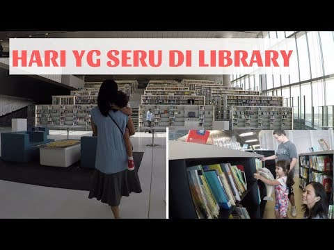 BAWA ANAK2 KE LIBRARY SUPER KEREN ll LUNCH SUSHI FAV