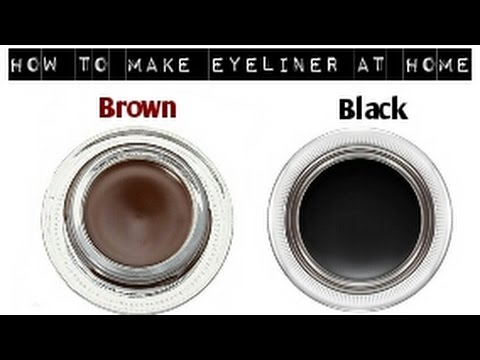 How to make Brown and Black eyeliner at home/Make Your Own Natural Eyeliner At Home |DIY eyeliner