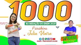 Júlia Vieira - Aluna Tira nota 1000 na Redação do Enem 2020