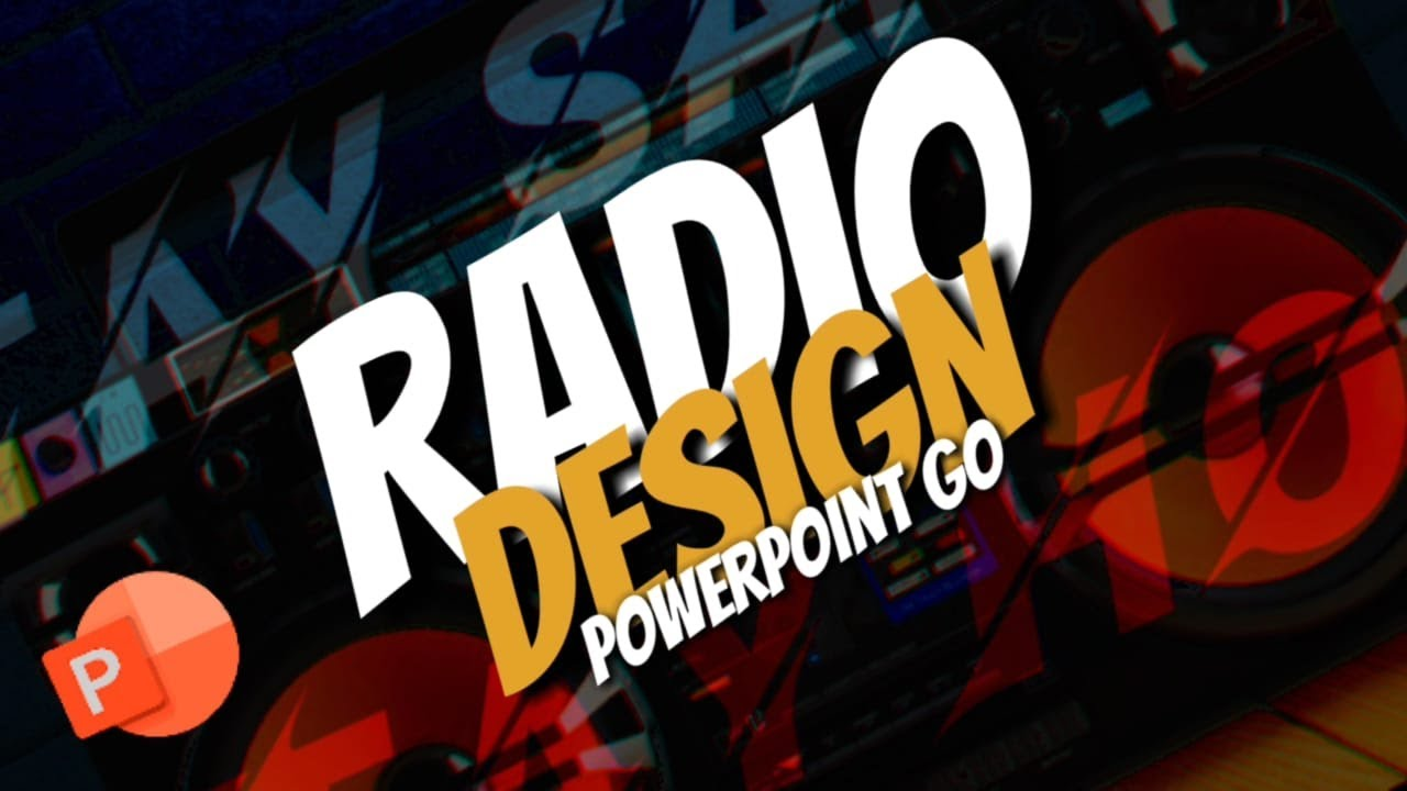 PowerPoint Tutorial - Flat Graphic Design (Radio) by powerpoint  go/powerpointgo