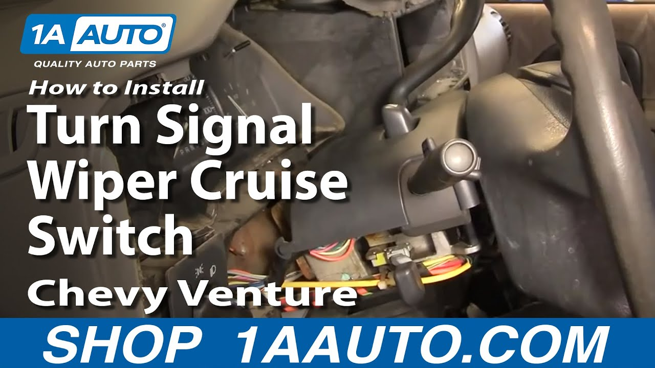 How To Install Replace Turn Signal Wiper Cruise Switch Chevy Venture 1997 Wiring Harness Montana 97 05 Part 2 1aautocom