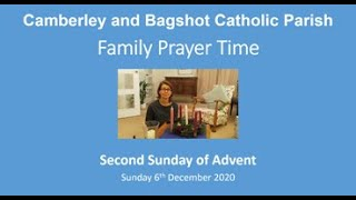 Family Prayer Time for  2nd Sunday of Advent